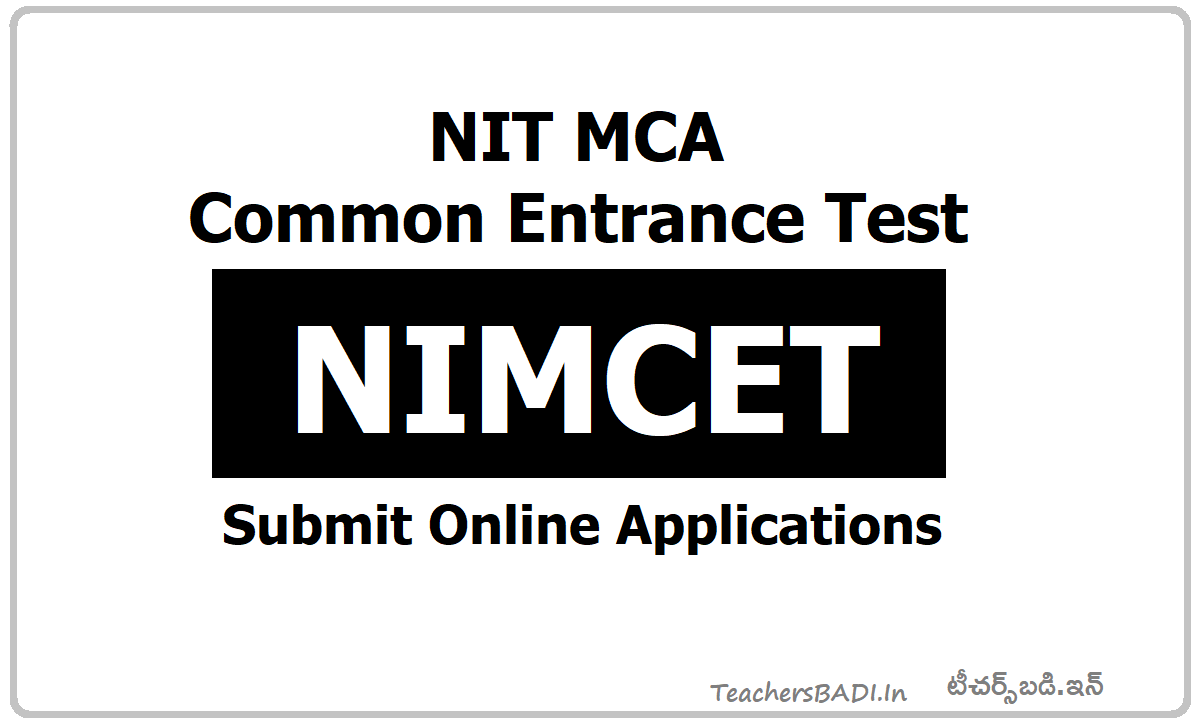 NIT MCA Common Entrance Test