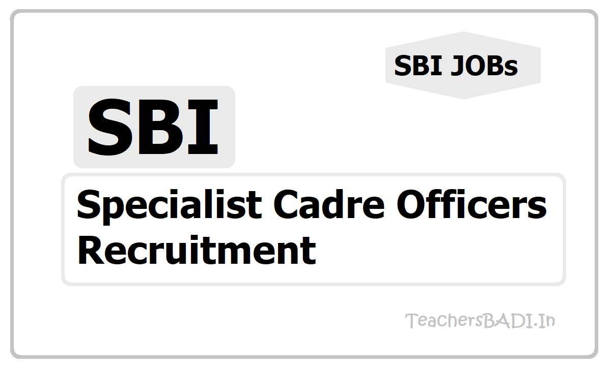 SBI Specialist Cadre Officers Recruitment 2020, Apply Online