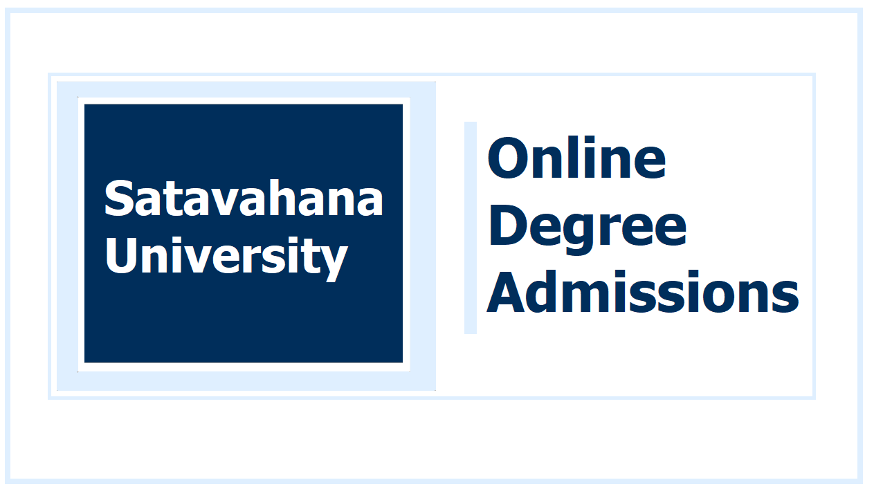 Satavahana University Online Degree Admissions 2020