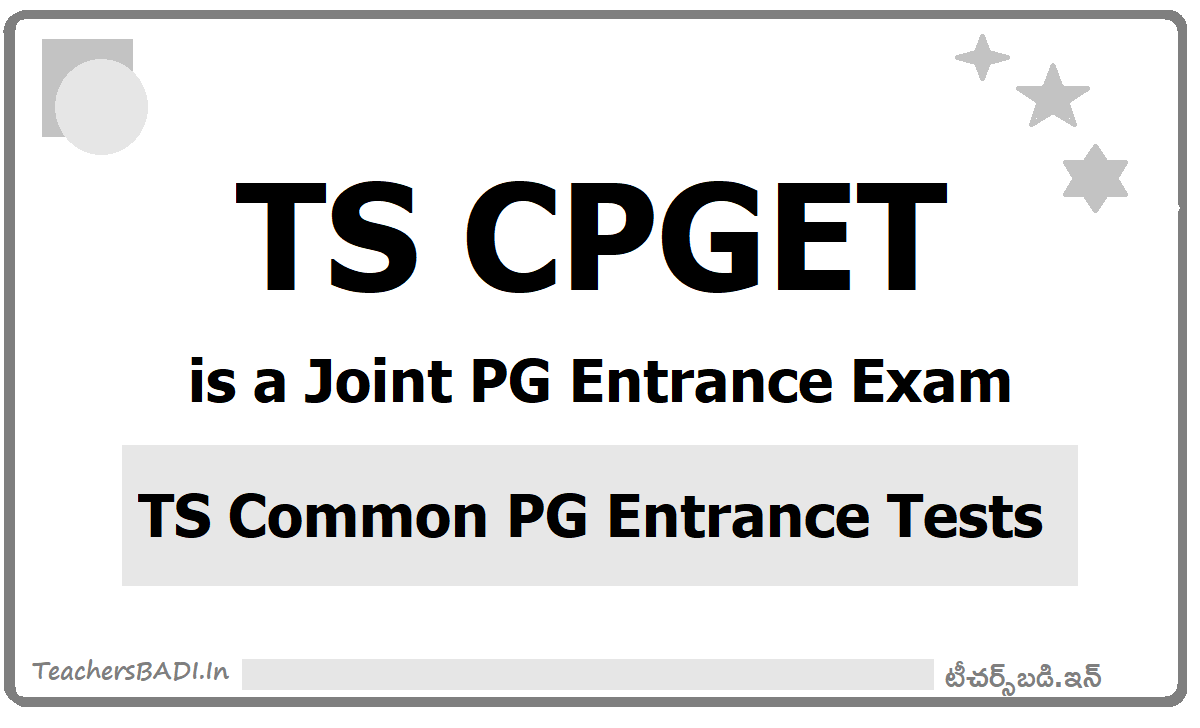 TS CPGET is a Joint PG Entrance Exam 2020 by OU (TS Common PG Entrance Tests)