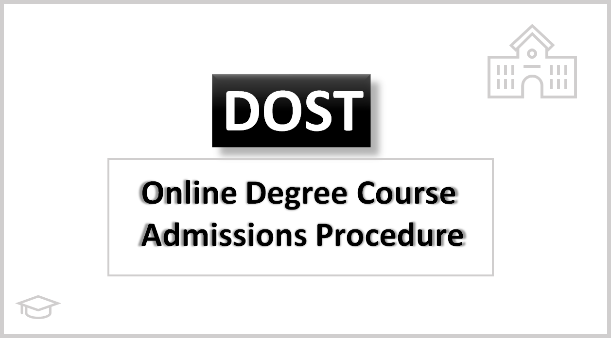 TS DOST Online Degree Courses Admissions Procedure