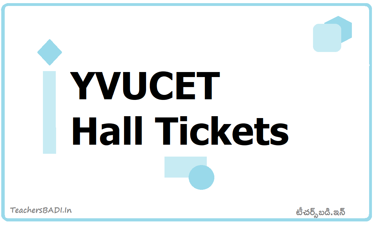 YVUCET Hall Tickets 2020 download From YVUPGCET Website