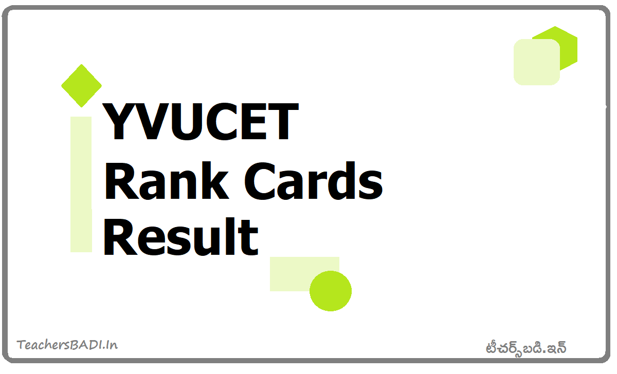 YVUCET Rank Cards & Results