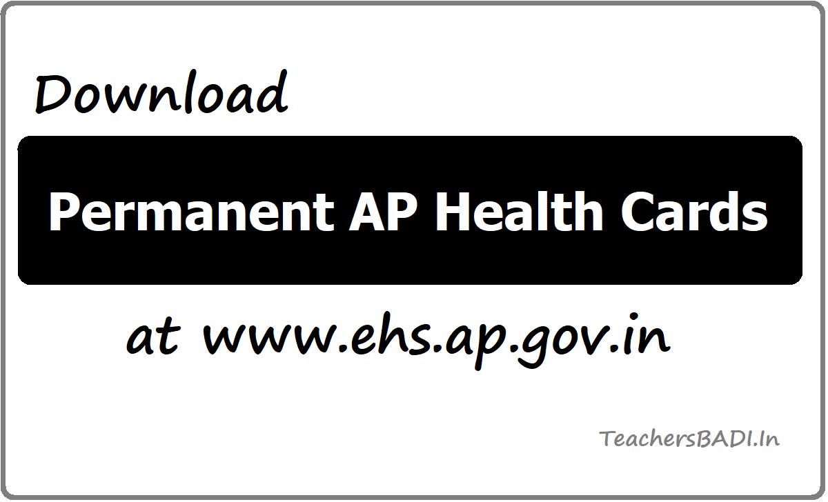 Download Permanent AP Health Cards