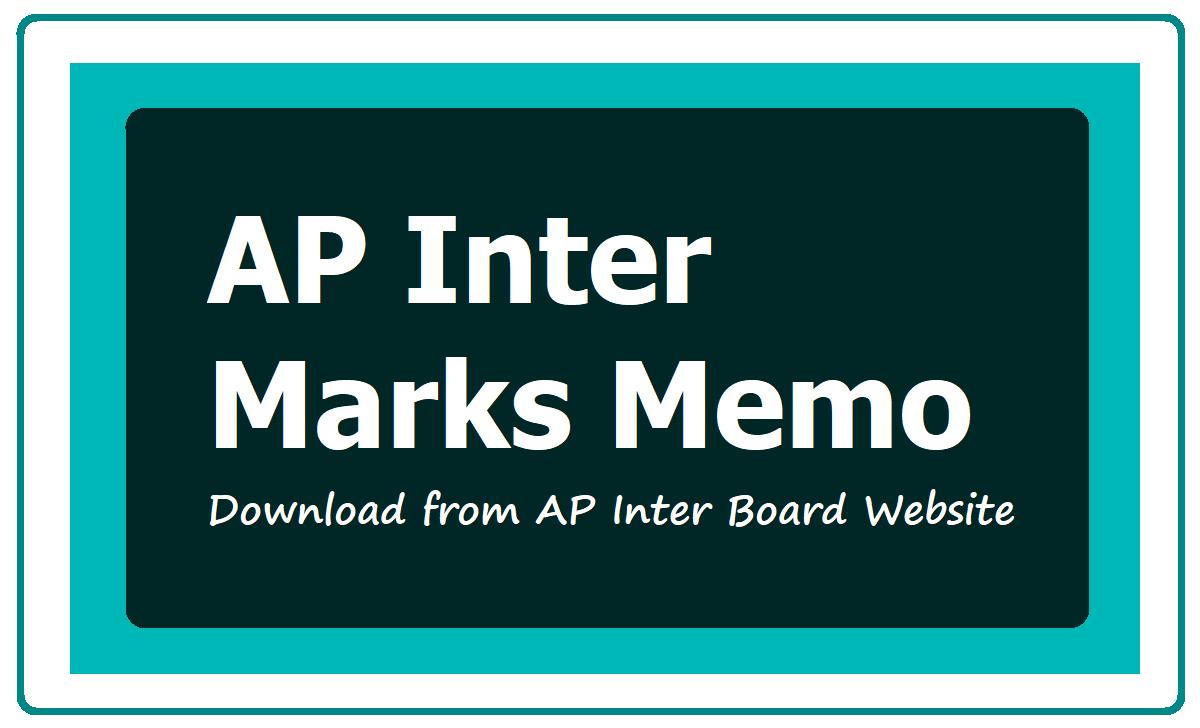 AP Inter Marks Memo 2020 Download from AP Inter Board Website bie.ap.gov.in