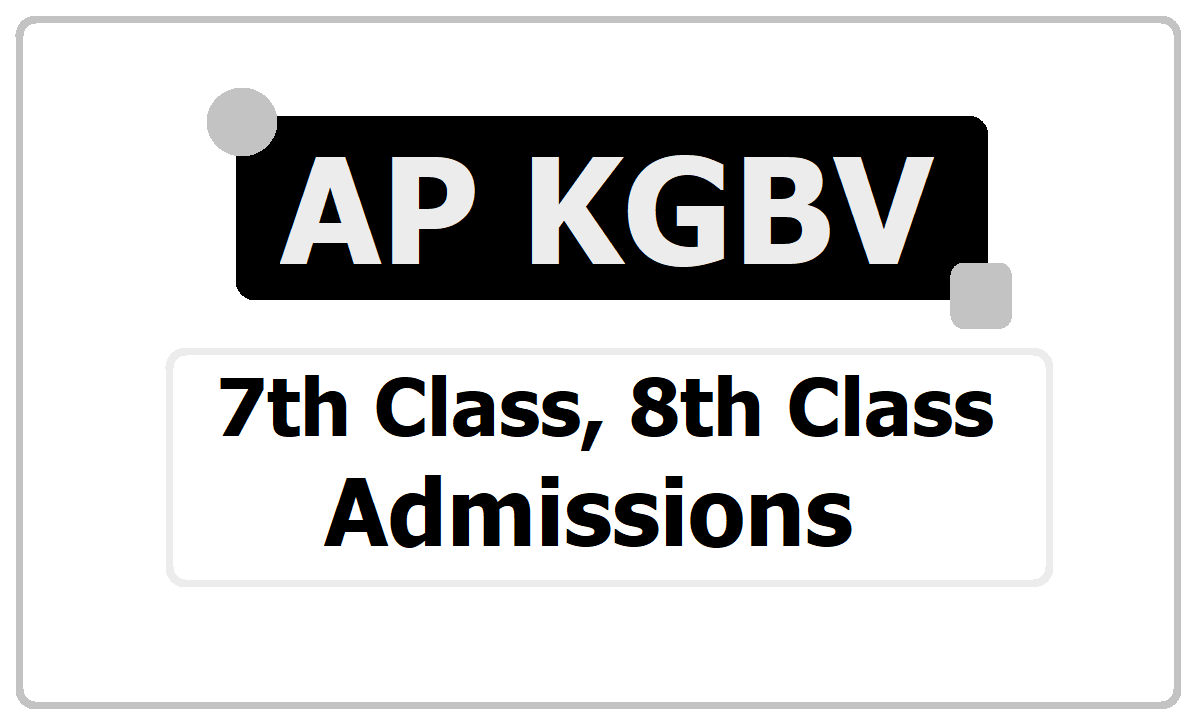 AP KGBV 7th/8th Class Admissions 2020
