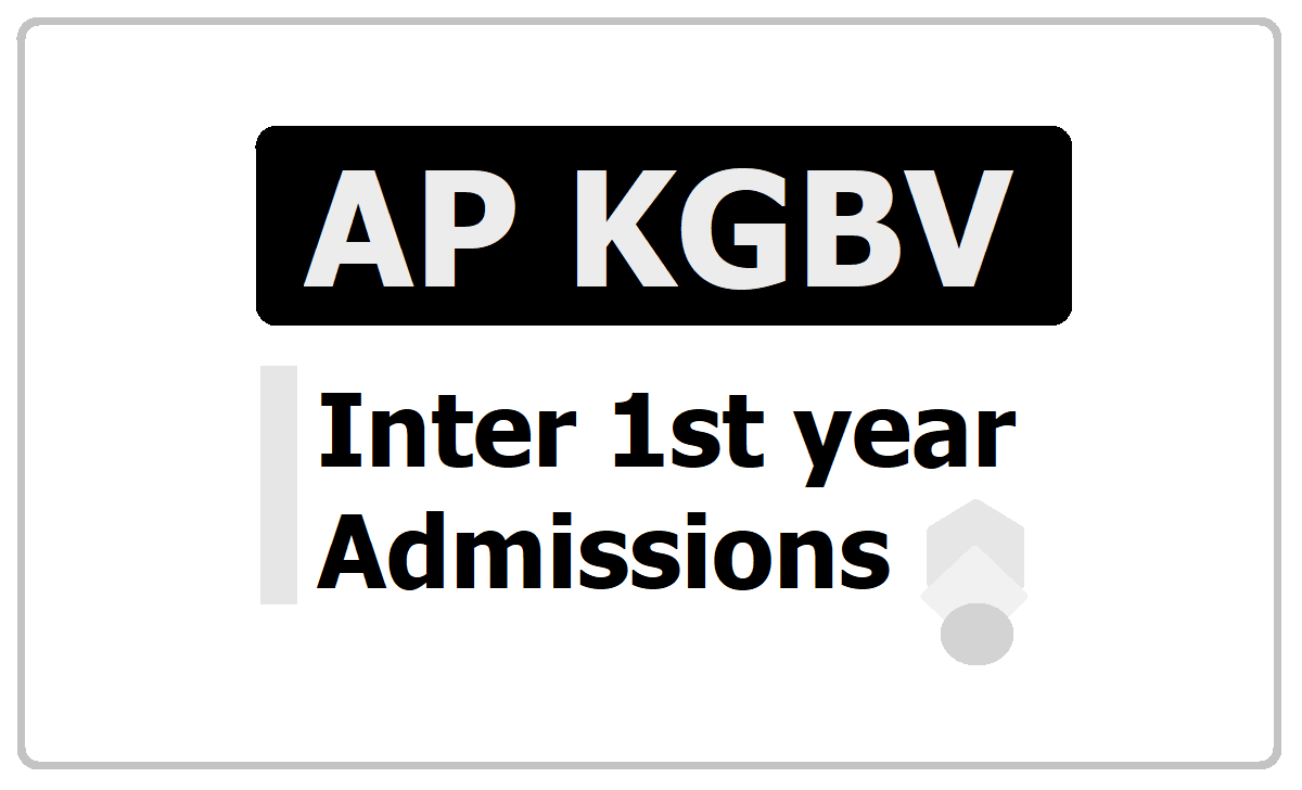 AP KGBV Inter 1st year Admissions 2020, Application form download