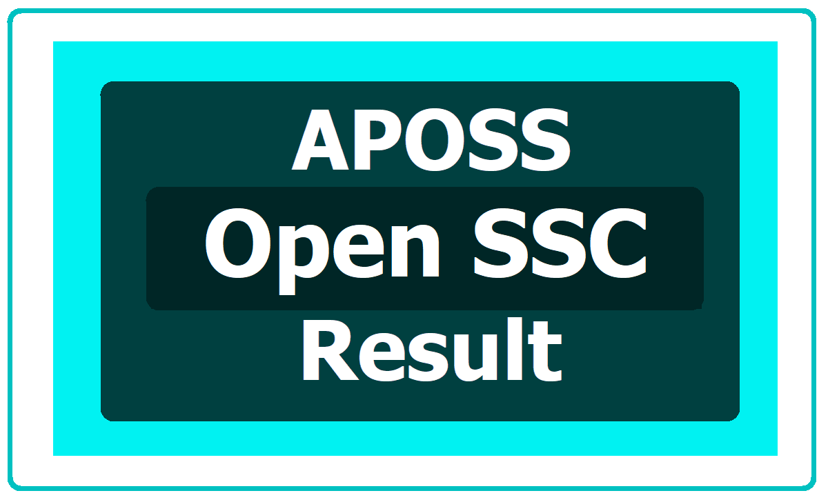 APOSS SSC Results 2020 (AP Open School SSC Results)