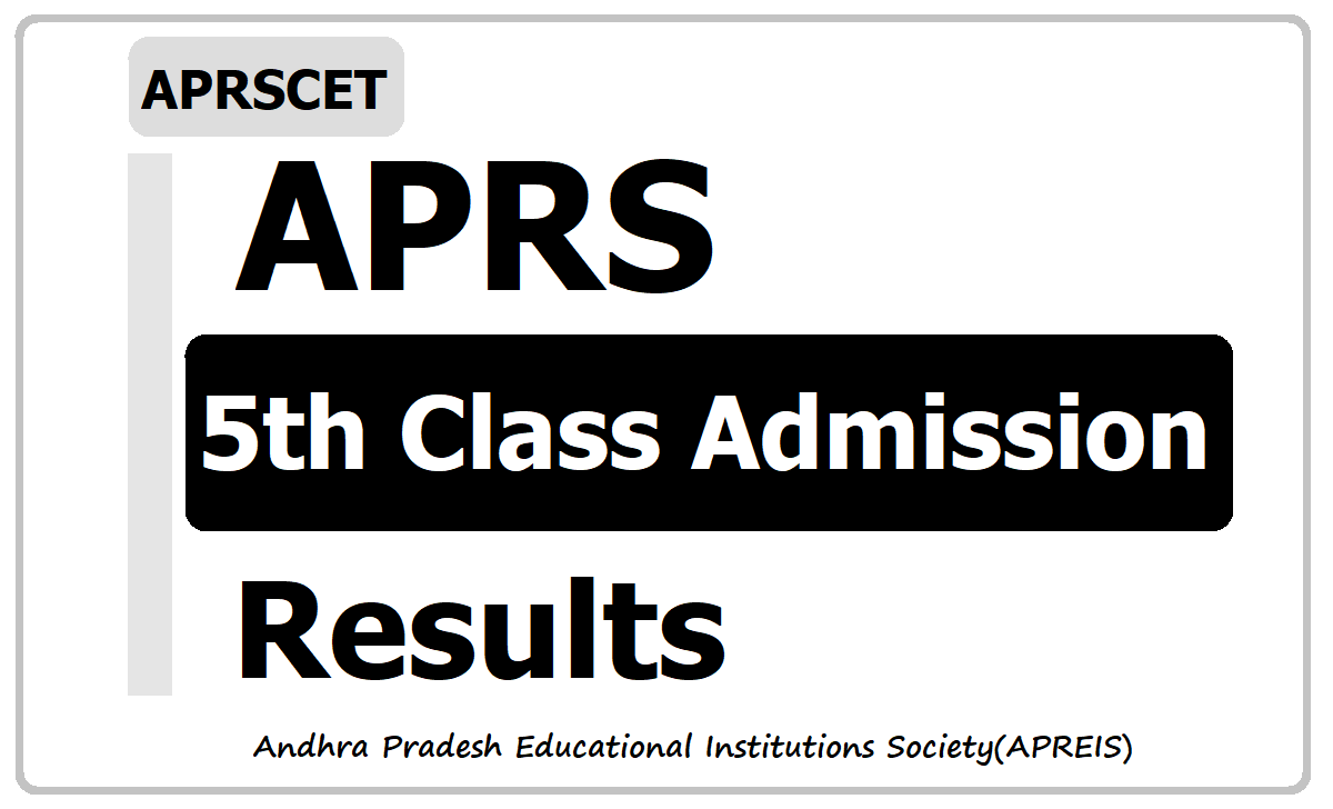 APRS 5th Class Admission Test Results 2020