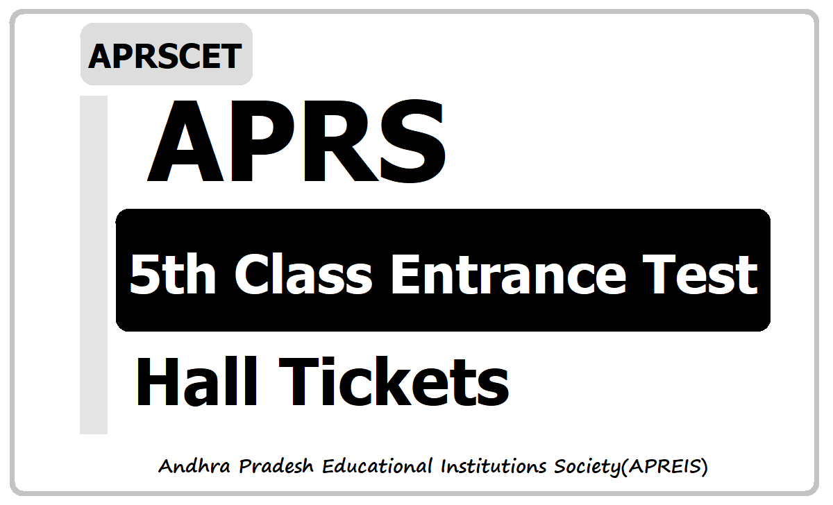 APRS 5th Class Entrance Test Hall tickets 2020 (APRSCET)