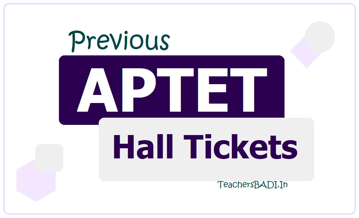 APTET Hall Tickets