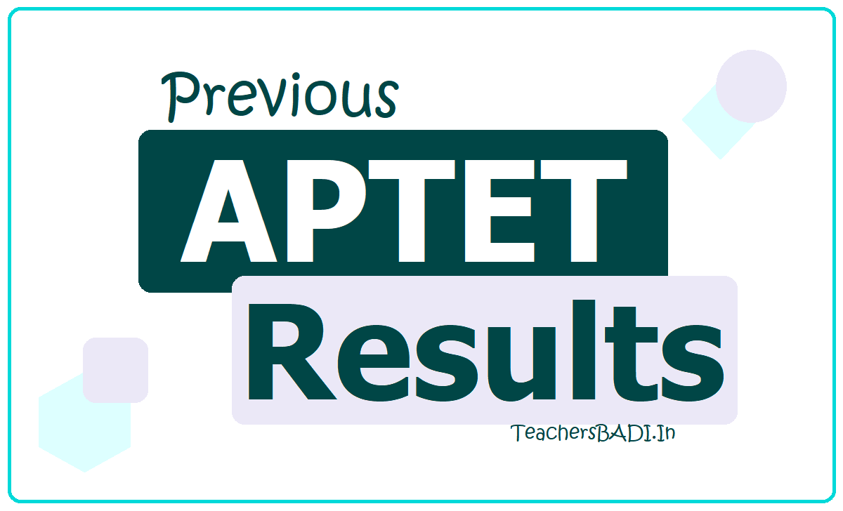 APTET Result of September 2013, May 2012, January 2012, July 2011, December 2017 & May 2018