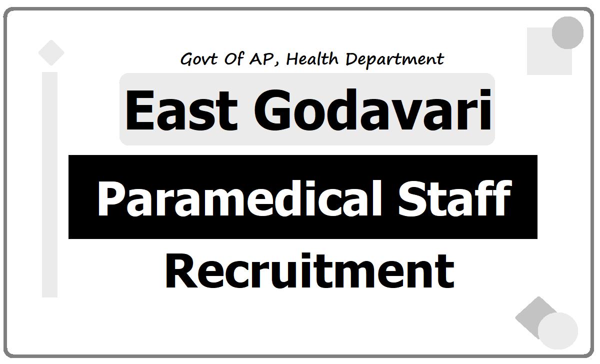 East Godavari Staff Nurses, Lab Technicians & Pharmacists Recruitment 2020, Application Form