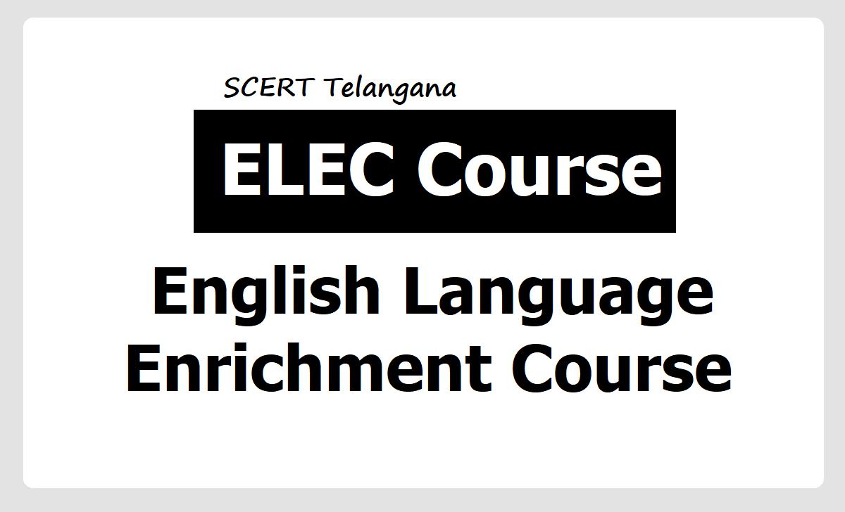 English Language Enrichment Course Online Application Form 2020