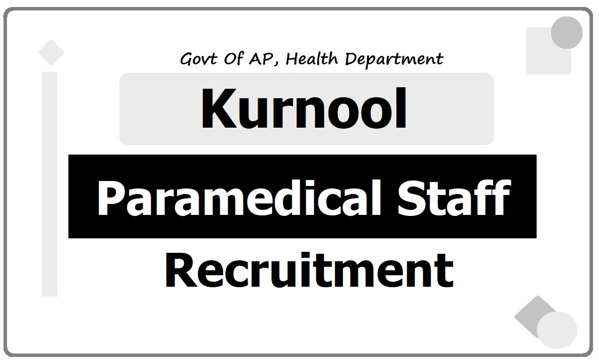 Kurnool Staff Nurses, Lab Technicians & Pharmacists Recruitment 2020, Application Form