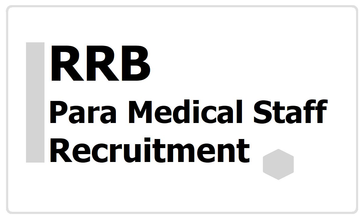 RRB Para Medical Staff Recruitment 2020