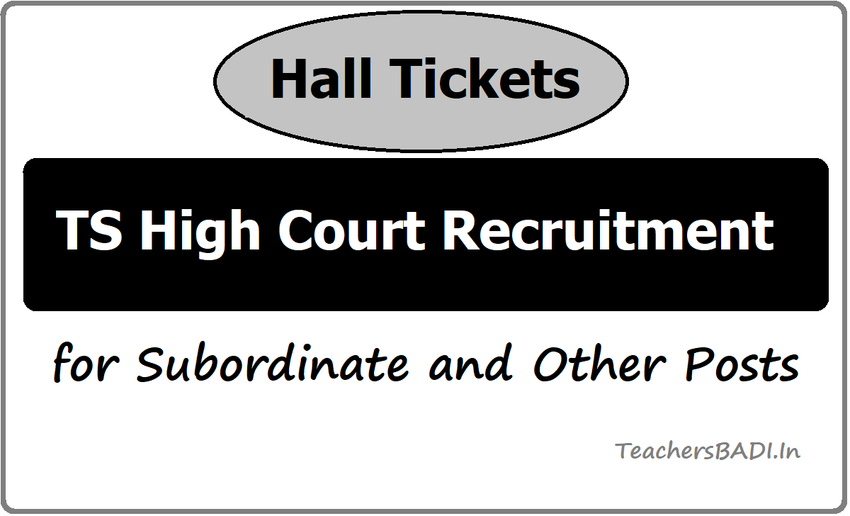 TS High Court Recruitment Hall tickets