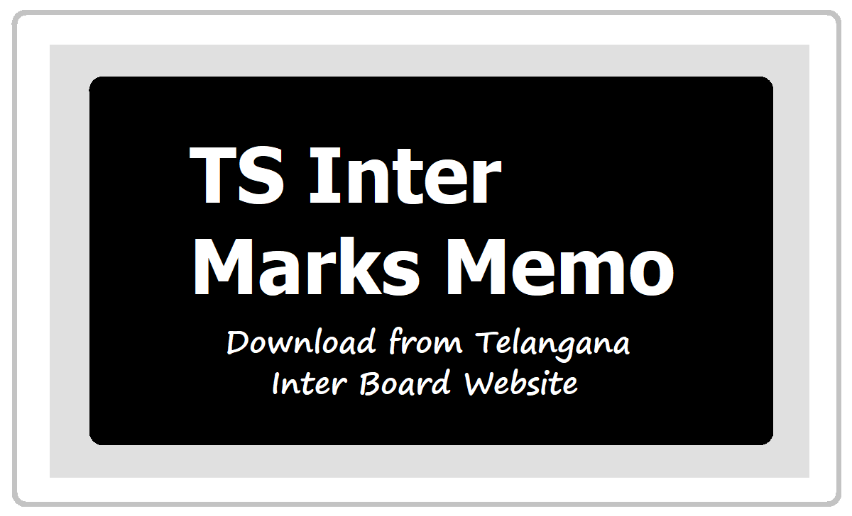 TS Inter Marks Memo 2020 Download from Telangana Inter Board Website tsbie.cgg.gov.in