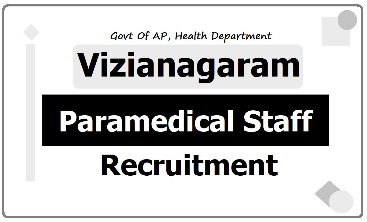 Vizianagaram Staff Nurses, Lab Technicians & Pharmacists Recruitment 2020, Application Form