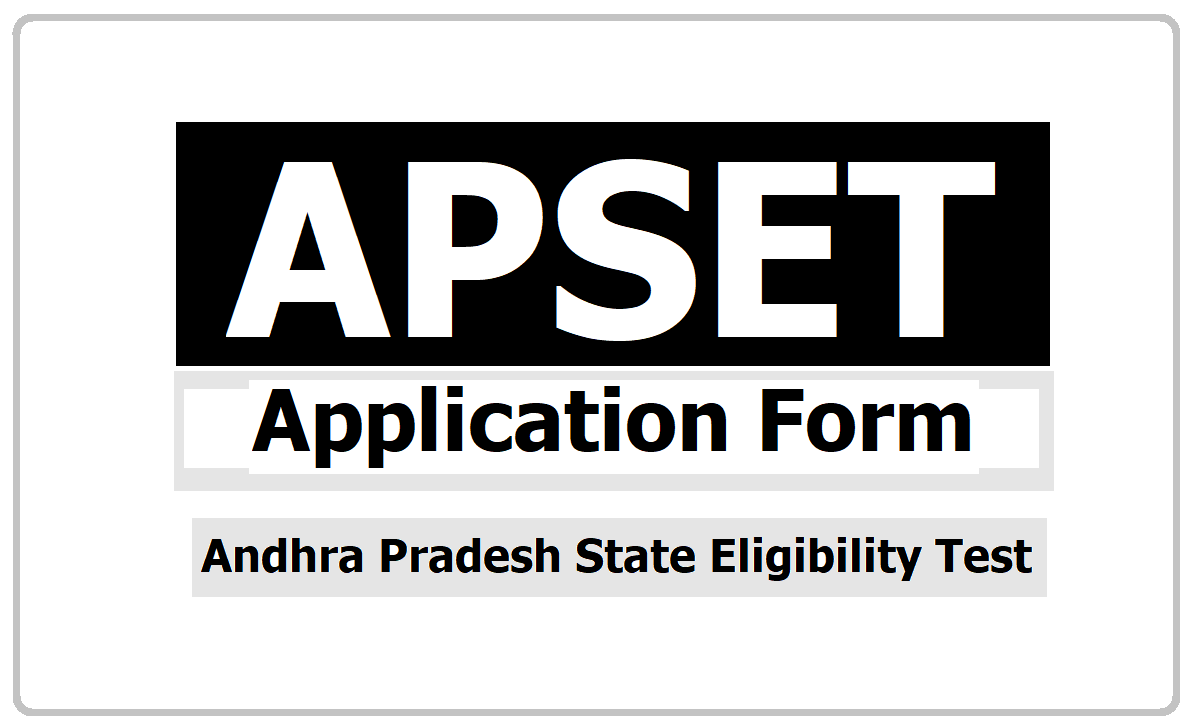 APSET 2020 Online Application Form