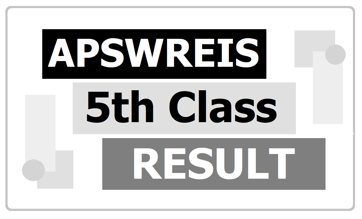 APSWREIS 5th Class Admission Results 2020 for AP Social Welfare School Admissions