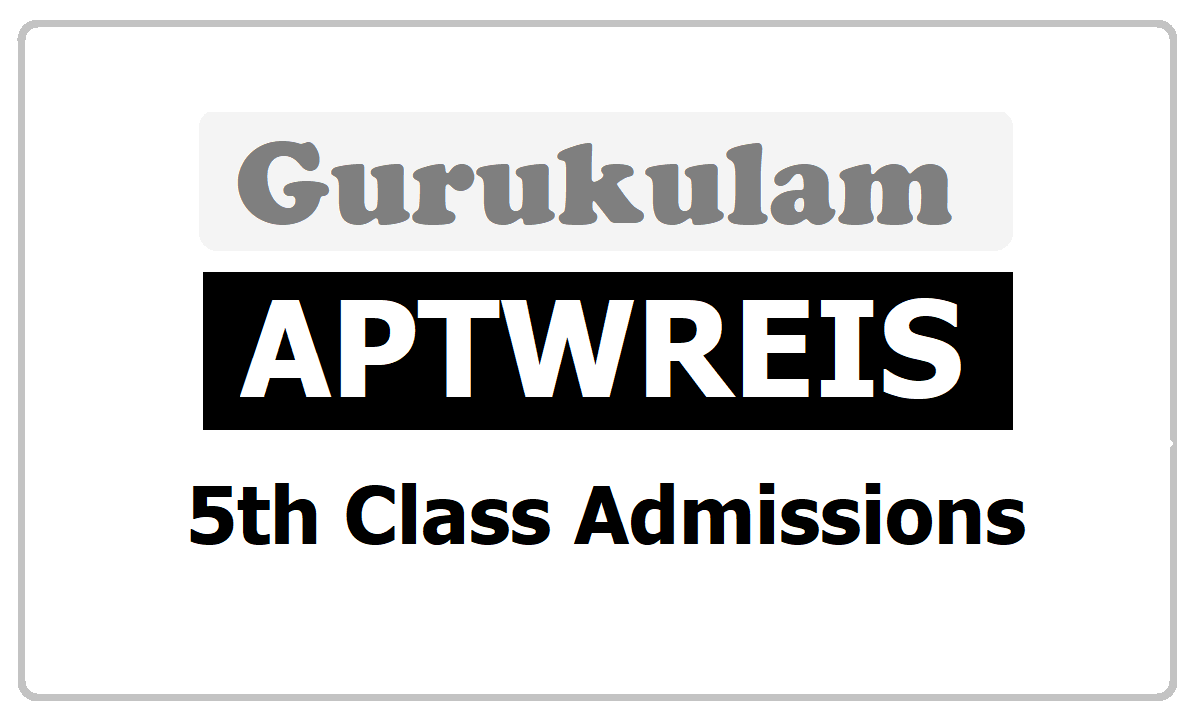 APTWREIS 5th Class Admissions 2020 without Entrance Test (APGPCET) in AP Tribal Welfare Residential Schools