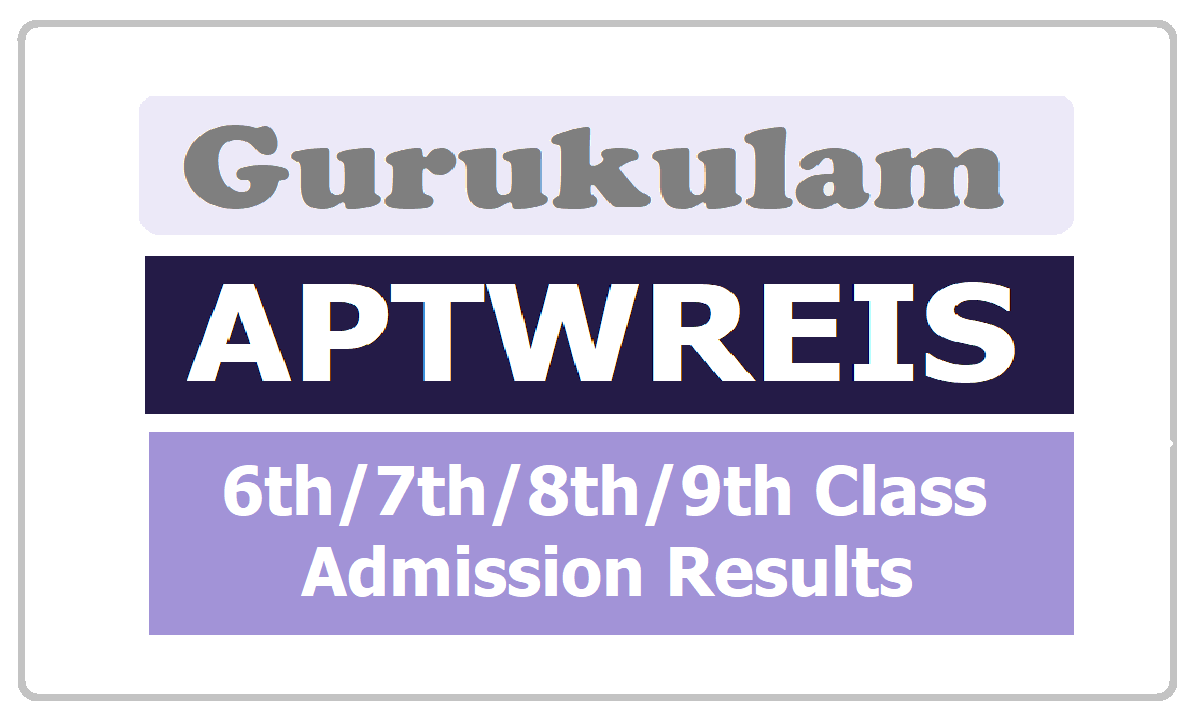 APTWREIS 6th 7th 8th 9th Class Admission Results 2020 for AP Tribal Welfare Residential Schools