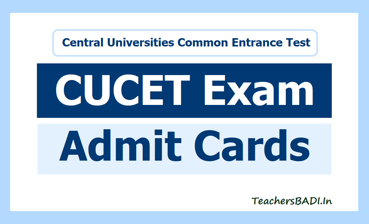 CUCET Admit Card 2020 and Exam Time Table Download