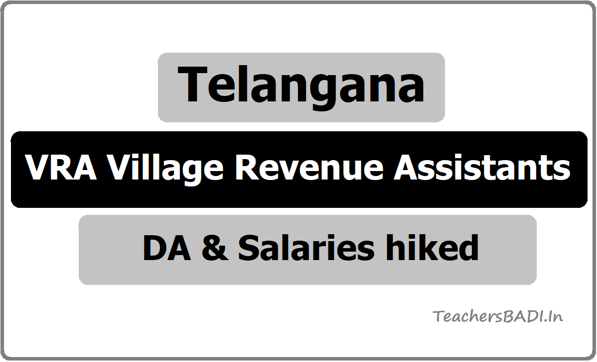 Telangana VRA Village Revenue Assistants DA