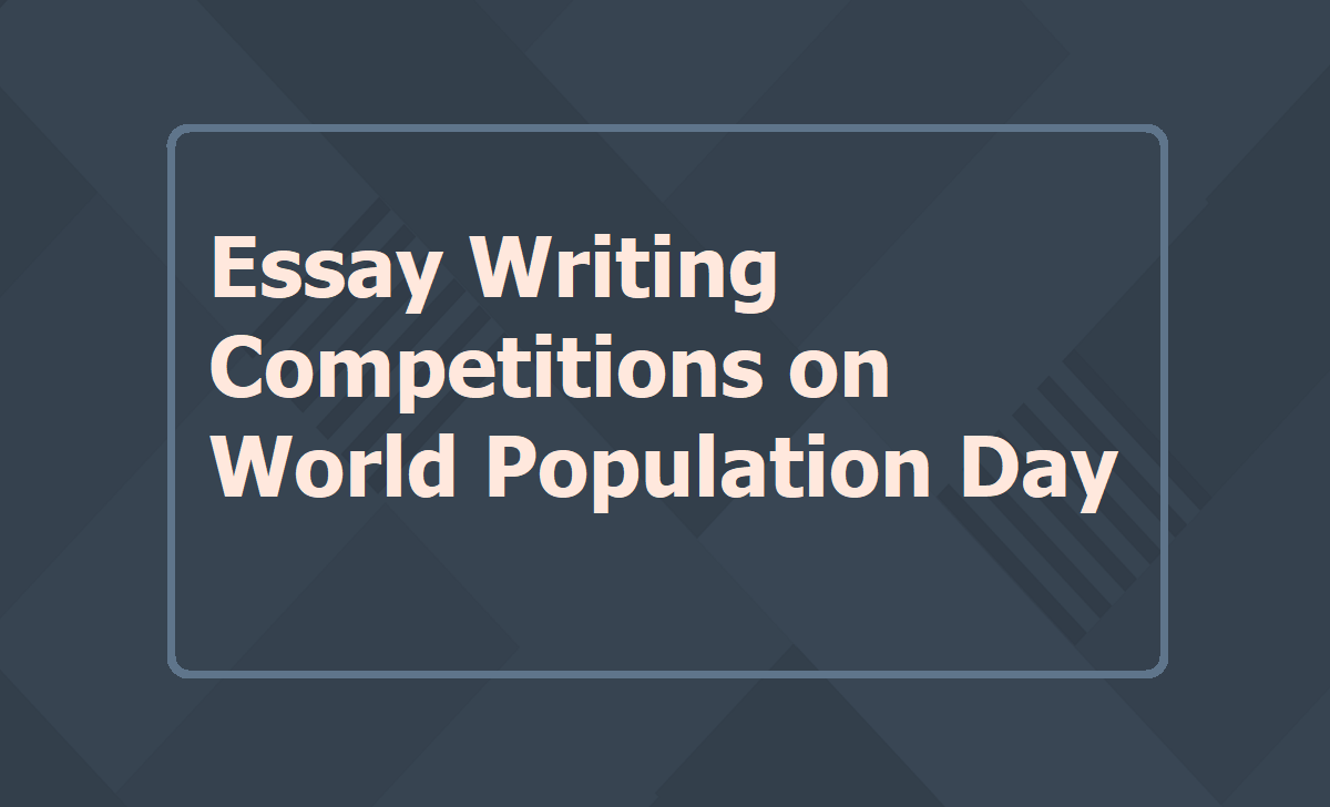Essay Writing Competitions on World Population Day