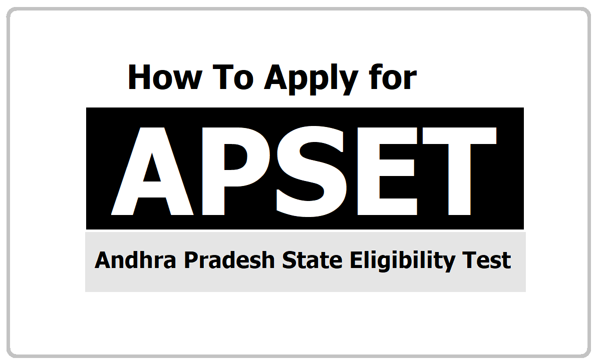 How to Apply for APSET 2020, Submit Online application form