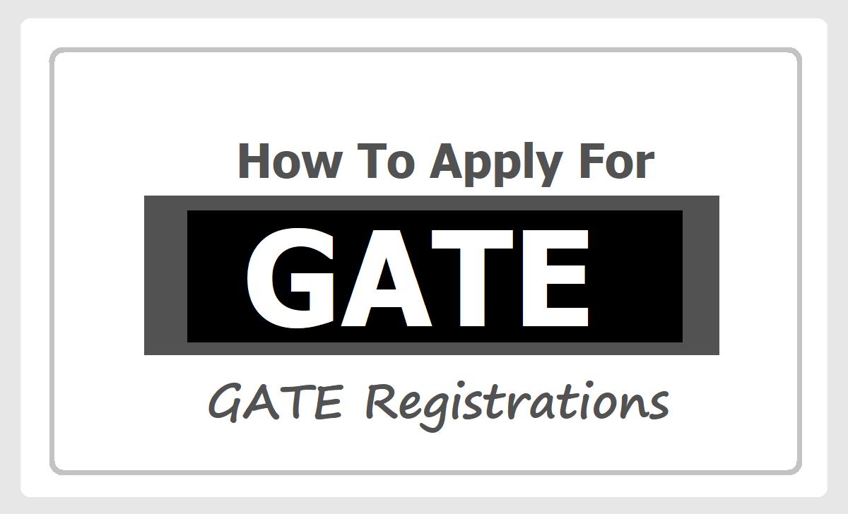 GATE Online Application 2021