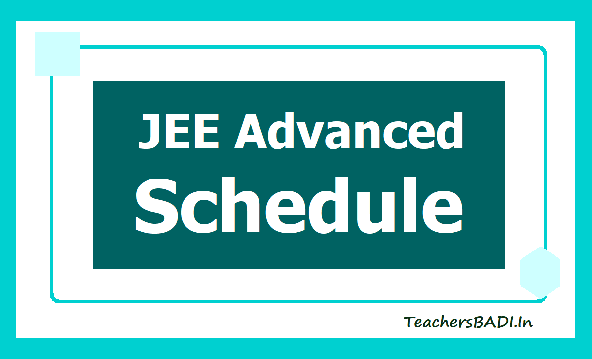 JEE Advanced 2020 Schedule
