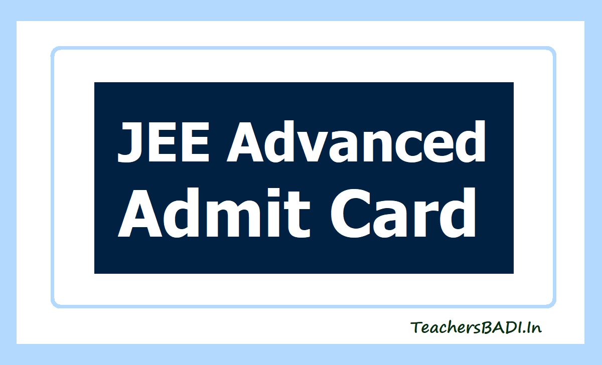 JEE Advanced Admit Card