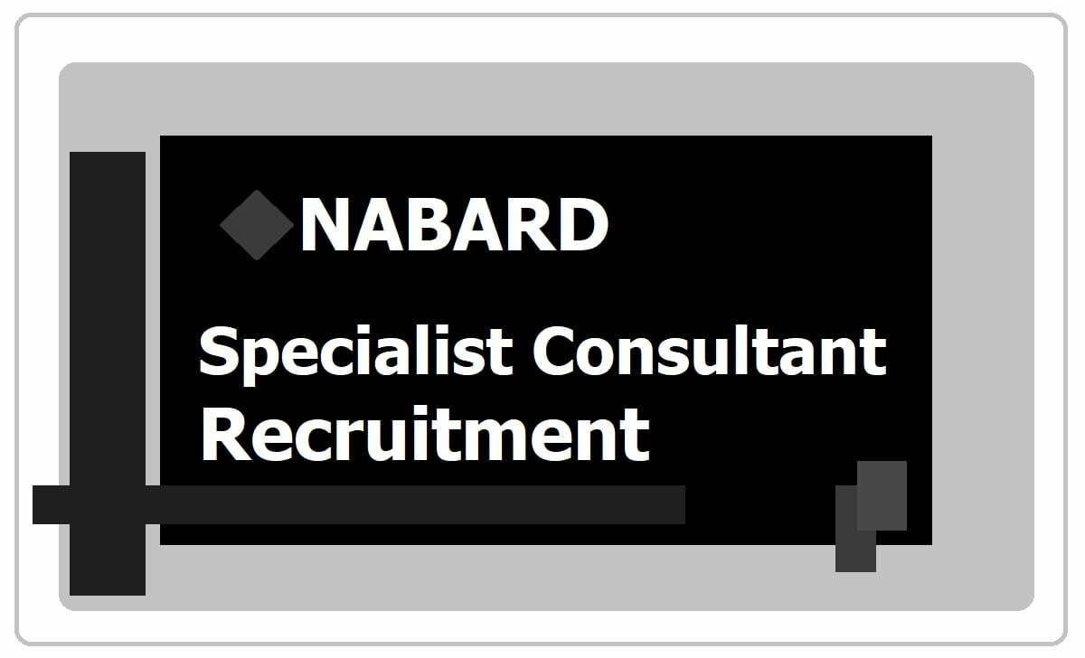 NABARD Recruitment 2020 Apply for Specialist Consultant Posts at nabard.org