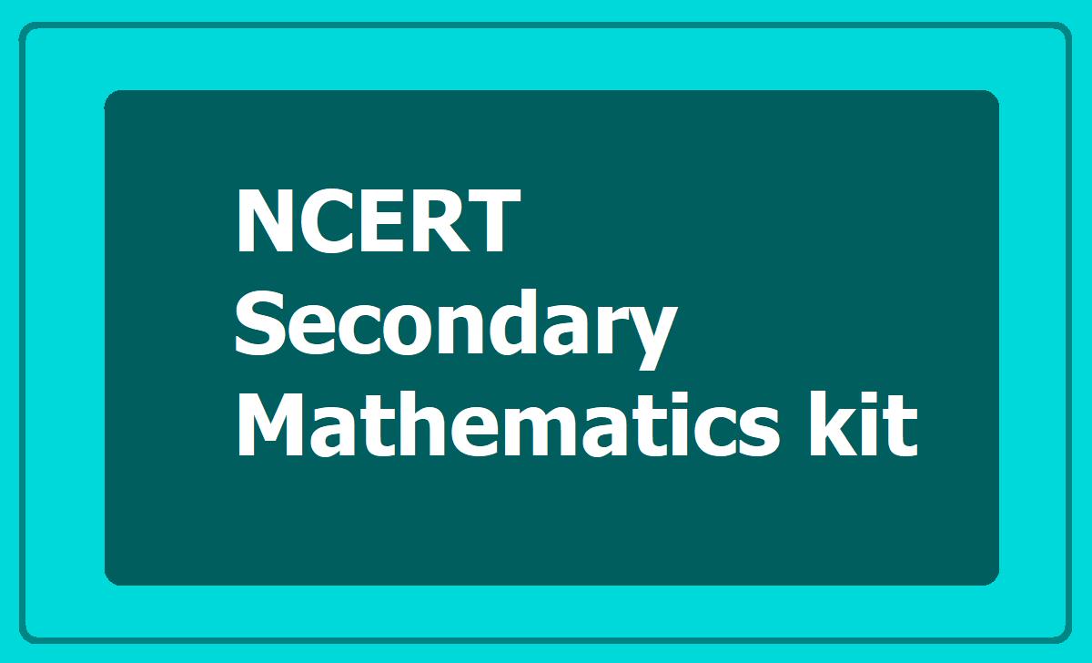 NCERT Secondary Mathematics kit Manual Book for Maths Activities performing