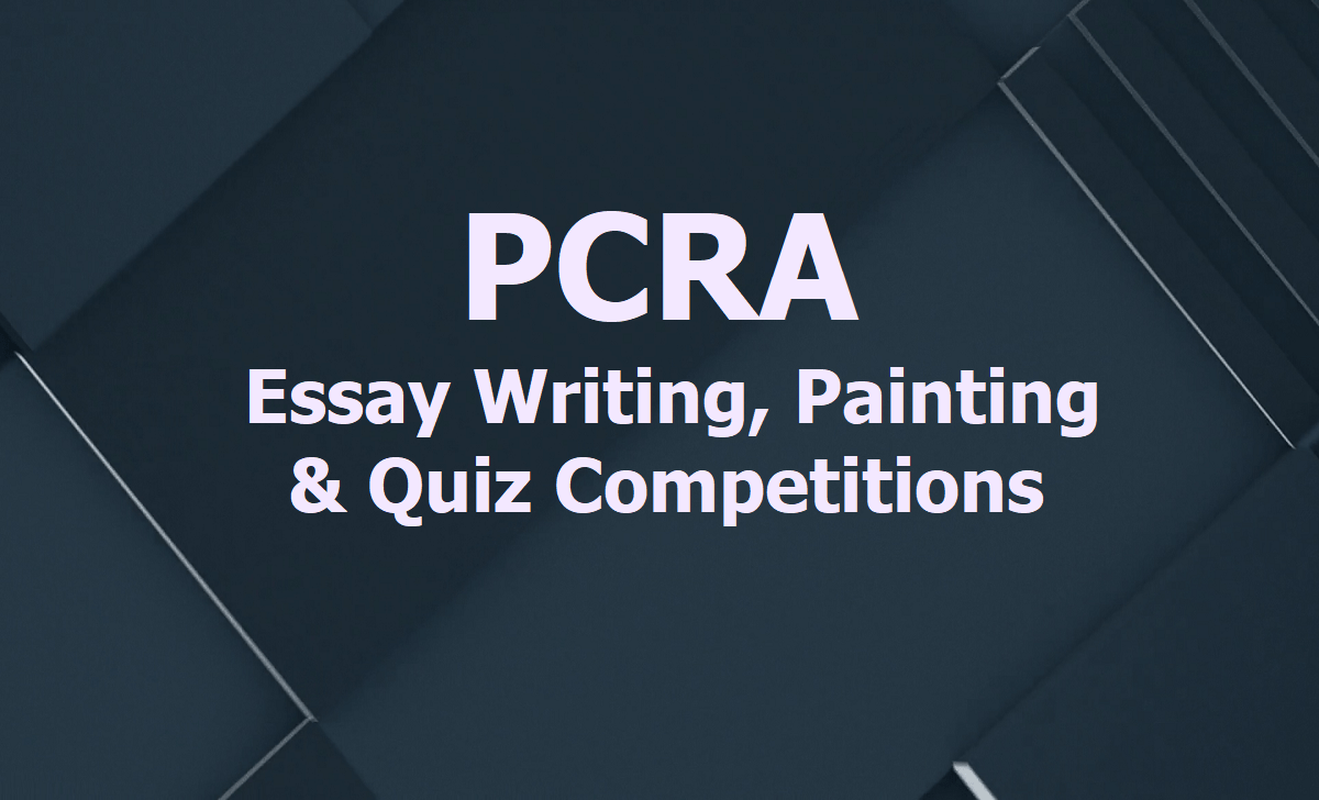 PCRA National Level Essay Writing Painting & Quiz Competitions