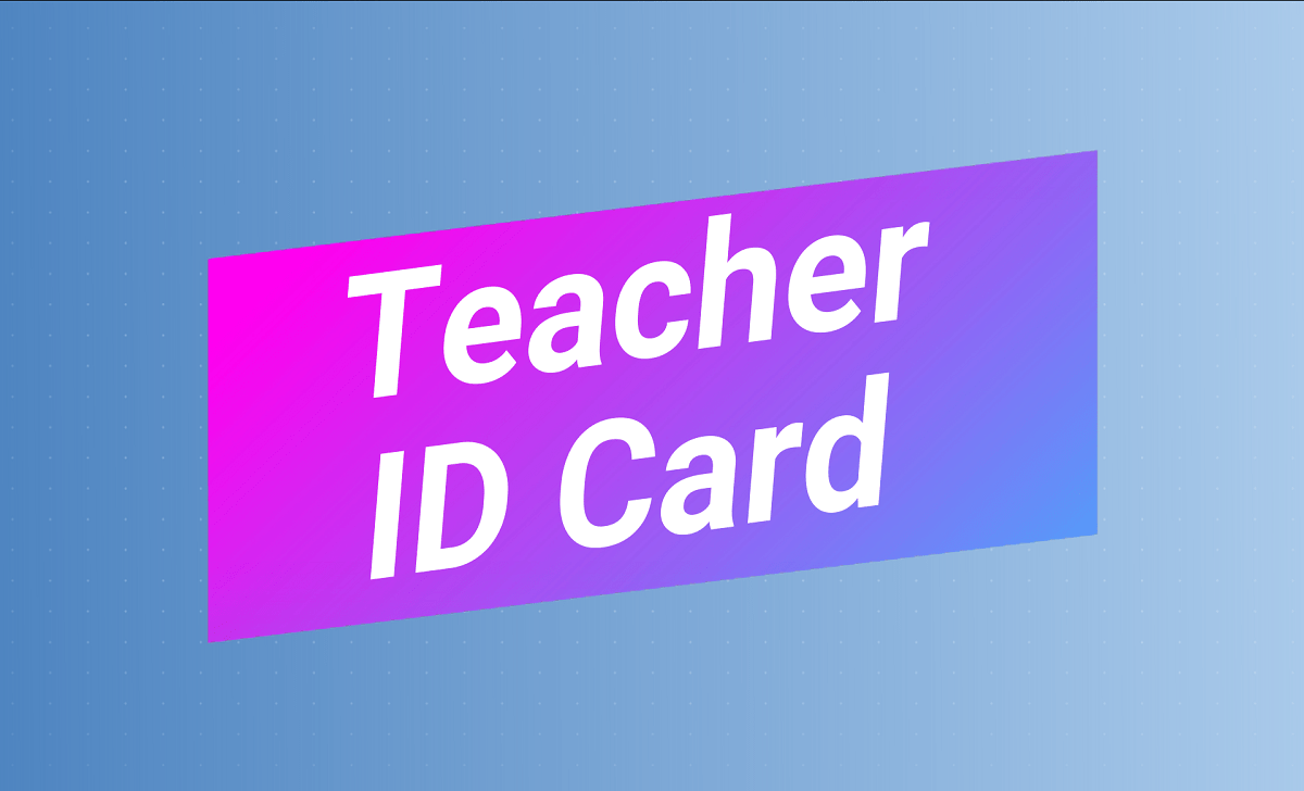TS Teacher ID Card