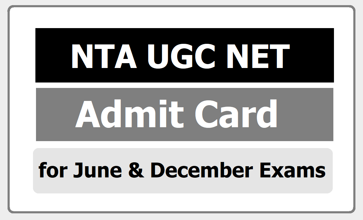 UGC NET Exam Admit Card 2020 download from 'ugcnet.nta.nic.in'