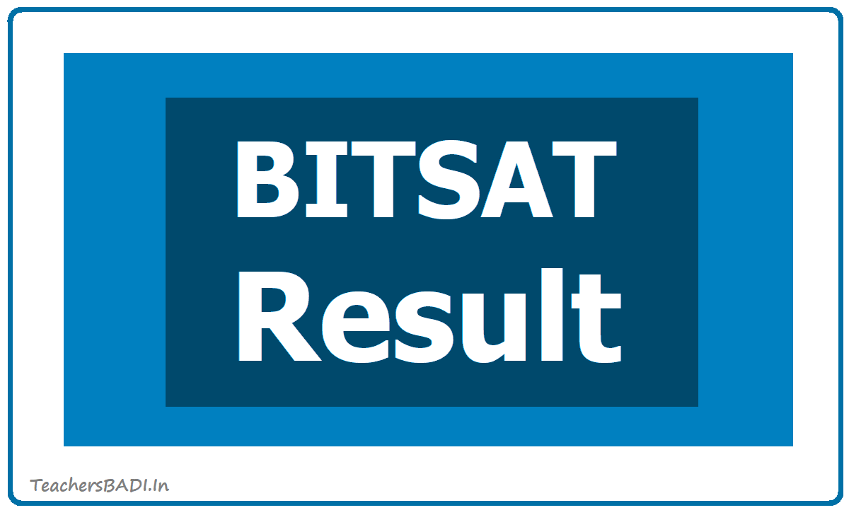 BITSAT Result