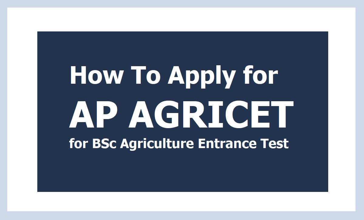AP AGRICET Online Application 2021