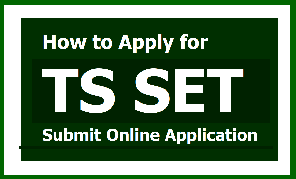 How to Apply for TS SET 2020