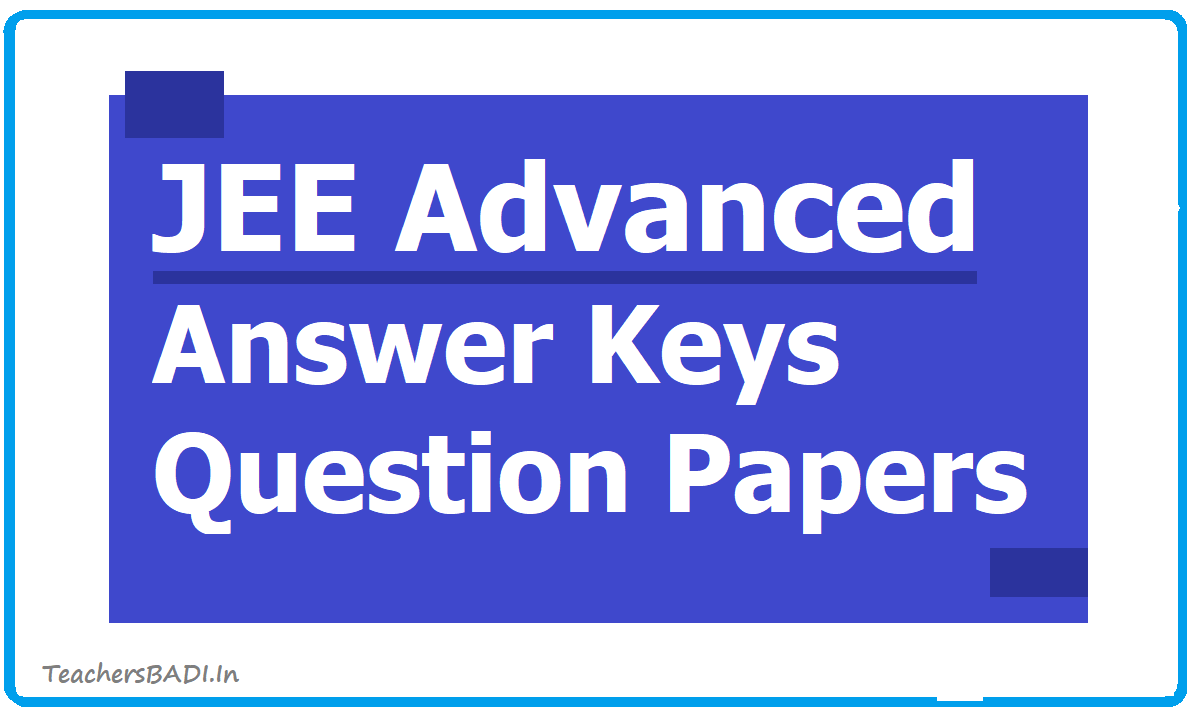 JEE Advanced Answer Keys & Question Papers 2020 download