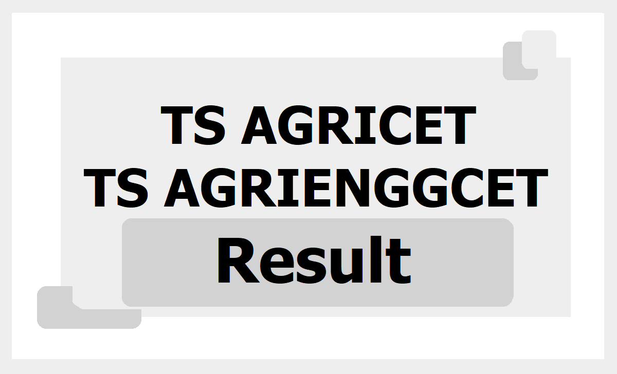 TS AGRICET AGRIENGGCET Result 2020