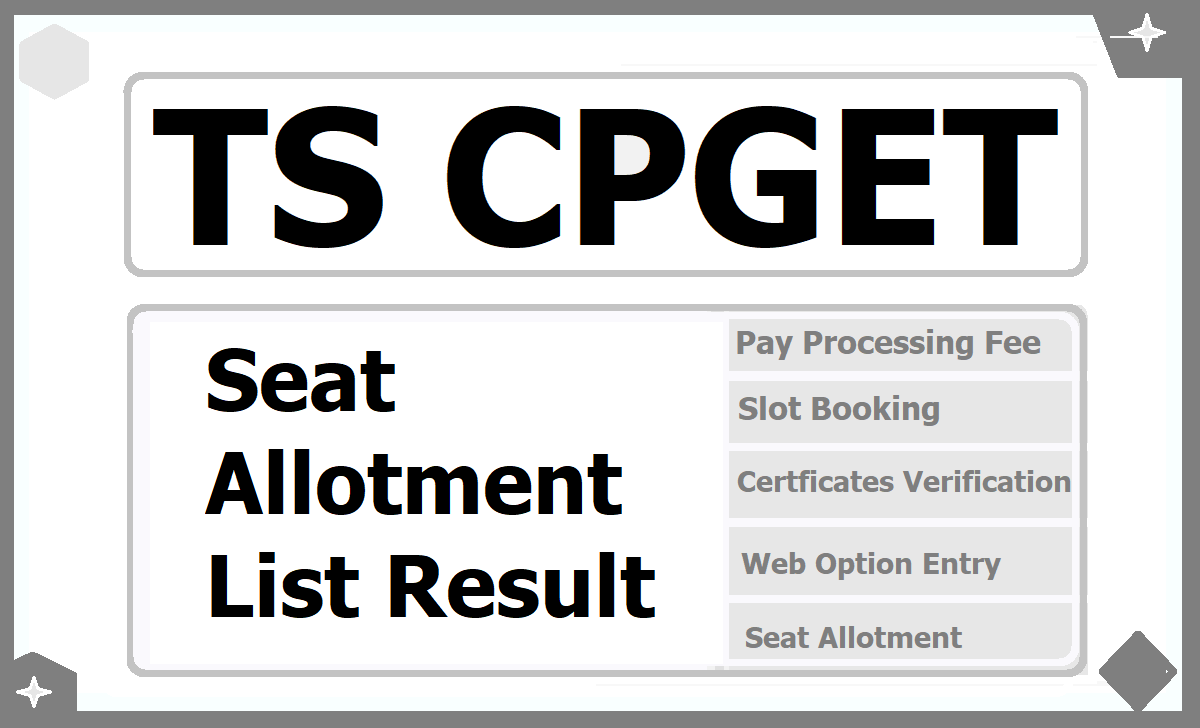 TS CPGET Seat Allotment Result 2021