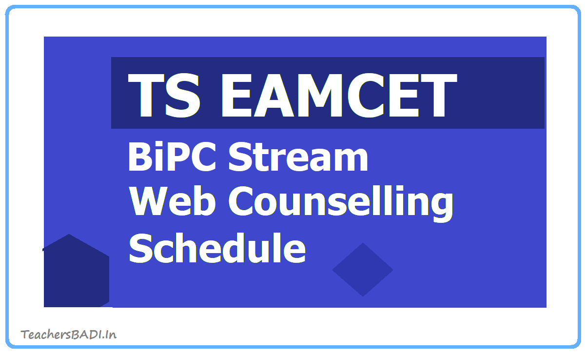 TS EAMCET BiPC Stream Web Counselling Schedule 2020 for Certification Verification, Web Option Entry
