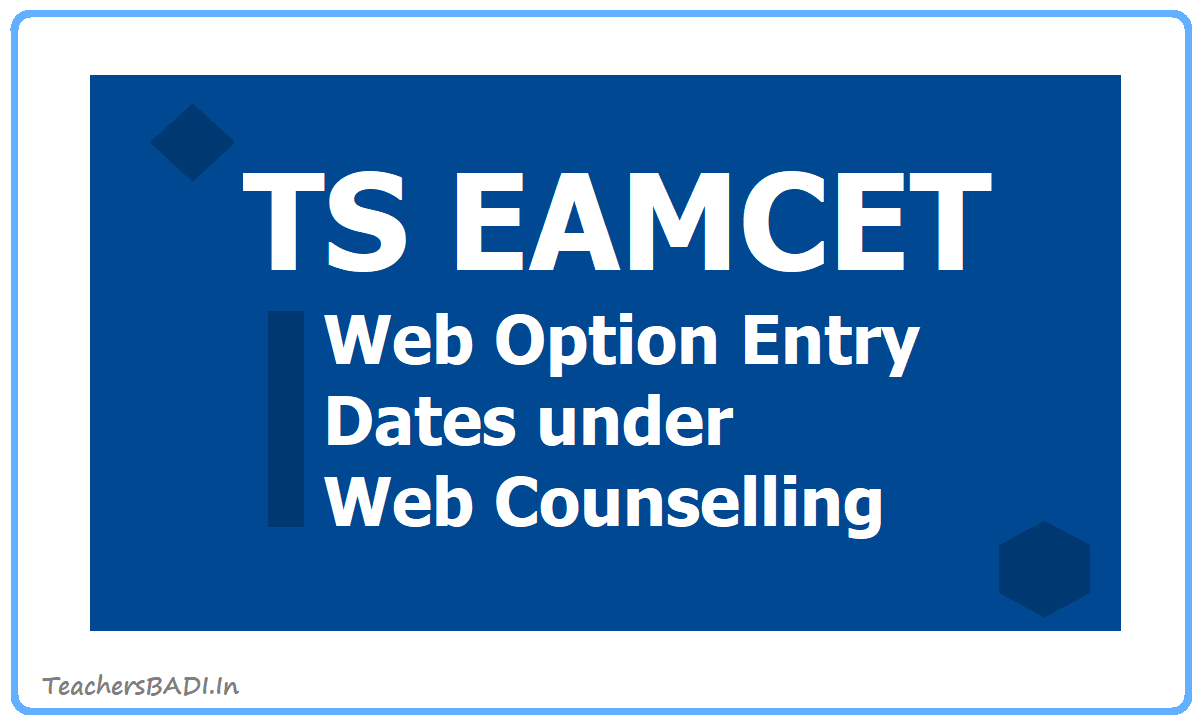 TS EAMCET Web Options Entry Dates 2020 under Web Counselling