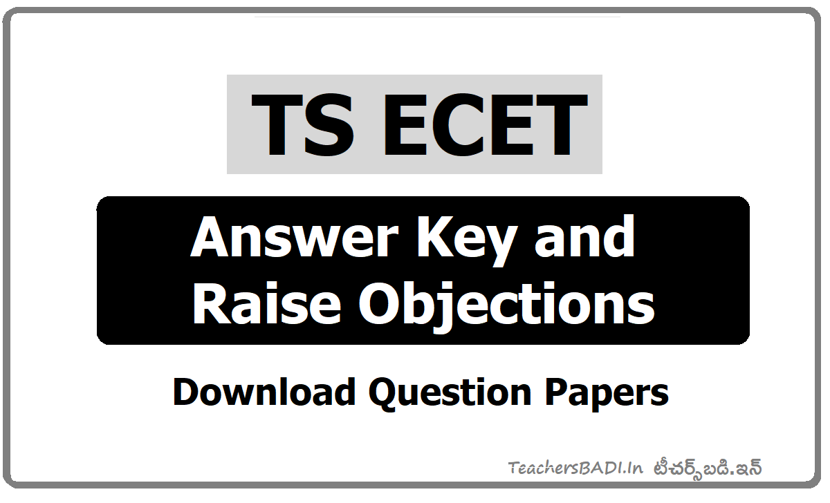 TS ECET Answer Key 2021, Raise Your Objections on Preliminary Answer Key