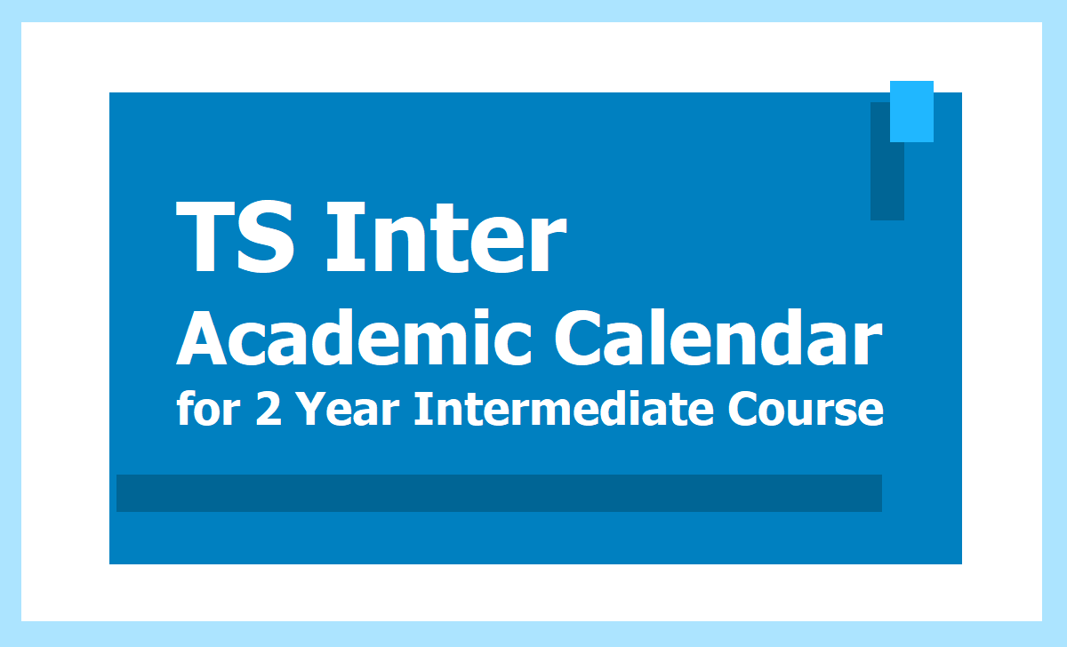 TS Inter Academic Calendar 2020 for Intermediate Education for 2020-2021