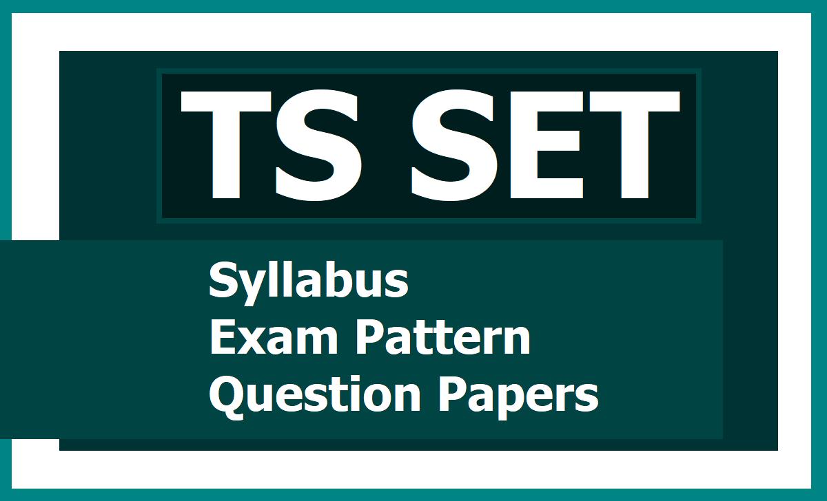 TS SET Syllabus